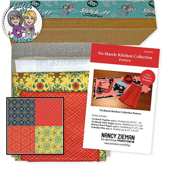 Red Wildflower Boutique No-Hassle Potholder Plus and Towel Topper Bundle Box available at ShopNZP.com