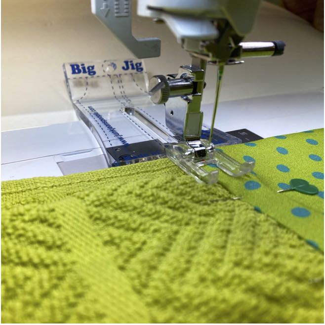 No-Hassle Kitchen Towel Topper Sewing Tutorial at the Nancy Zieman Productions Blog Featuring Wildflower Boutique Fabrics by Riley Blake Designs