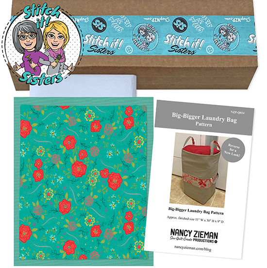 Teal Wildflower Boutique Big-Bigger Laundry Bag Bundle Box available at ShopNZP.com
