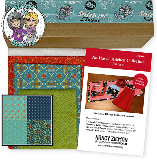 Teal Wildflower Boutique No-Hassle Napkin and Table Topper Bundle Box at ShopNZP.com