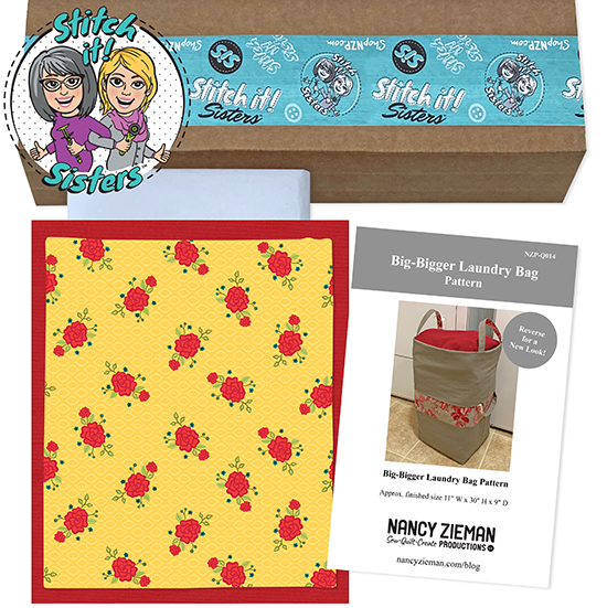 Yellow Wildflower Boutique Big-Bigger Laundry Bag Bundle Box available at ShopNZP.com