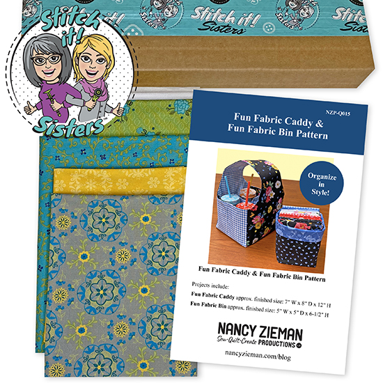 Yellow Wildflower Boutique Fun Fabric Caddy & Fun Fabric Bin Bundle Box available at ShopNZP.com