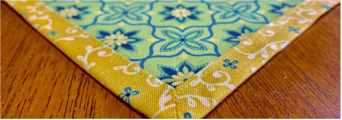 NEW! No-Hassle Table Topper Sewing Tutorial at the Nancy Zieman Productions Blog Featuring Wildflower Boutique Fabrics by Riley Blake Designs
