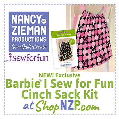 Barbie I Sew for Fun Cinch Sack Kit available at ShopNZP.com