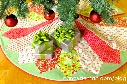 Nancy Zieman The Blog Sew A New Christmas Tree Skirt