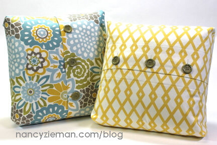 Boxed-Corner Buttonhole Pillow Tutorial/How-To by Nancy Zieman