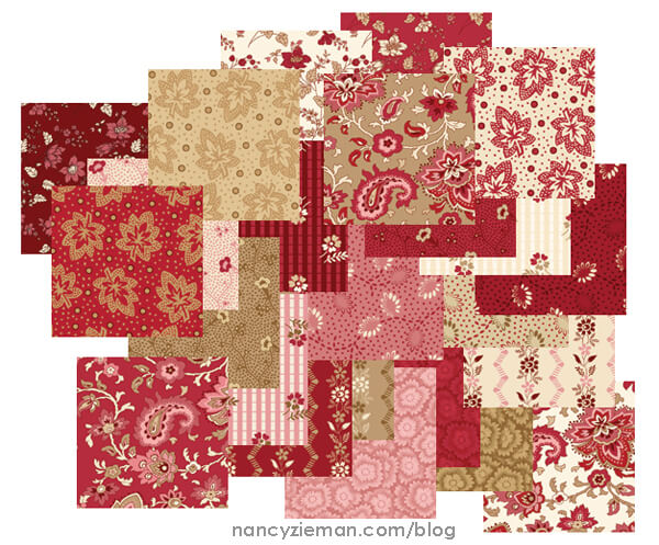 Garnet fabric collection by Nancy Zieman for Penny Rose