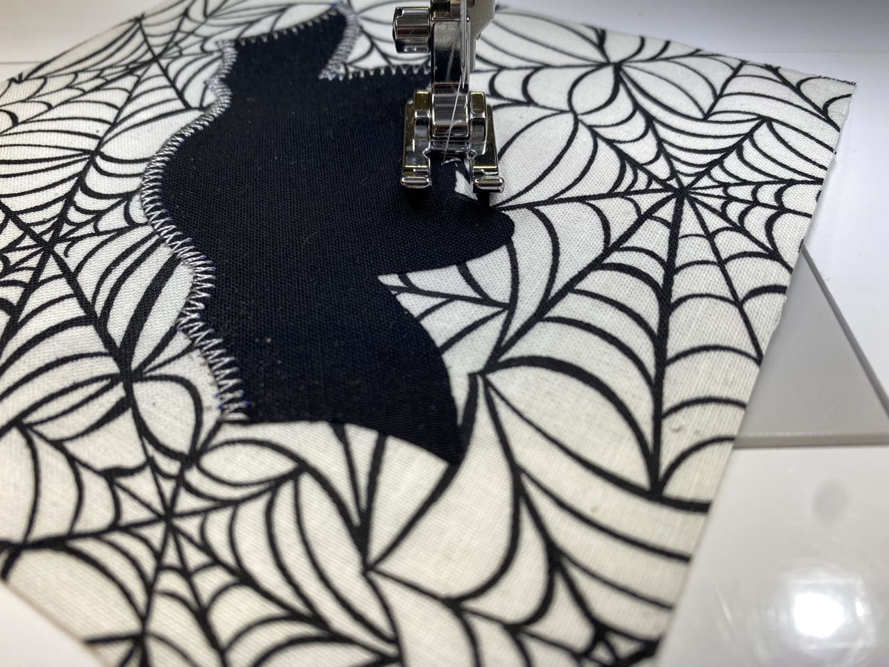 Halloween Appliqued Palette Coaster Sewing Tutorial at the Nancy Zieman Productions Blog
