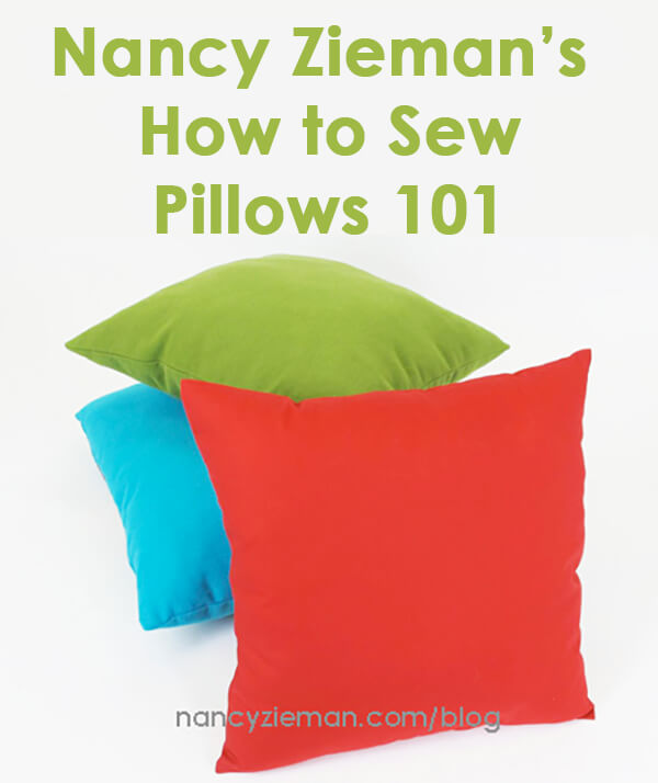 How to Sew Pillows by Nancy Zieman | Sewing With Nancy