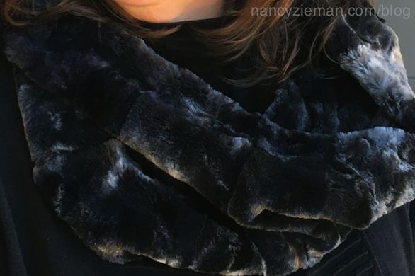 FREE! Faux Fur Infinity Scarf Sewing Tutorial by Team NZP at the Nancy Zieman Productions Blog