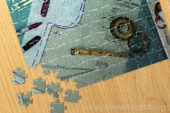 Solving the Pattern Fitting Puzzle TV Show by Nancy Zieman