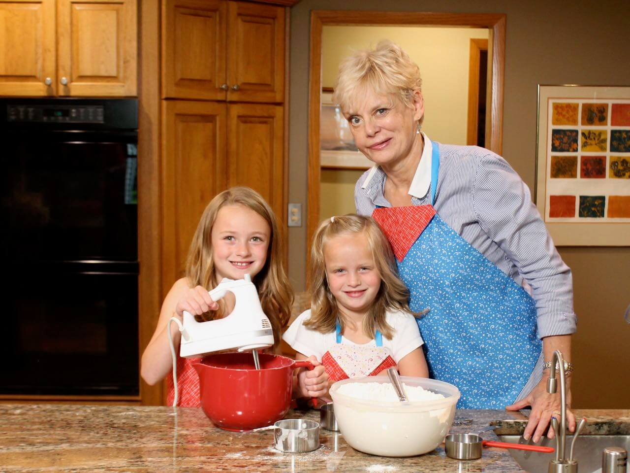Nancy Zieman Baking Cookies with her Grandaughters in I Sew For Fun
