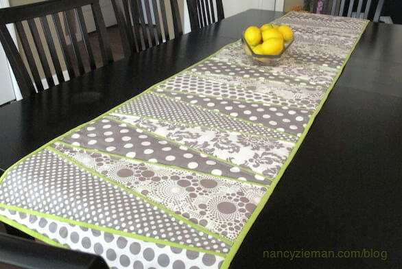 How to sew a table runner, using a Dresden Plate variation by Nancy Zieman