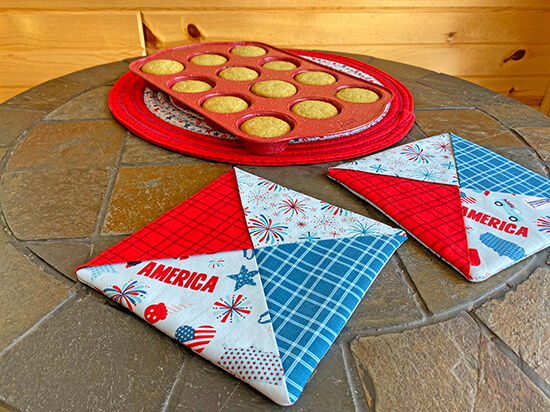 Patriotic Folded Hot Pad Sewing Tutorial at Nancy Zieman Productions Blog