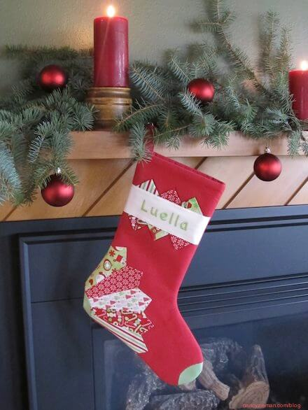 How to sew a Christmas Stocking sewing Challenge as featured on Nancy Zieman's Blog