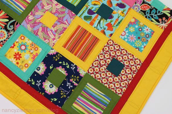How to make a square within a square quilt block, Nancy Zieman