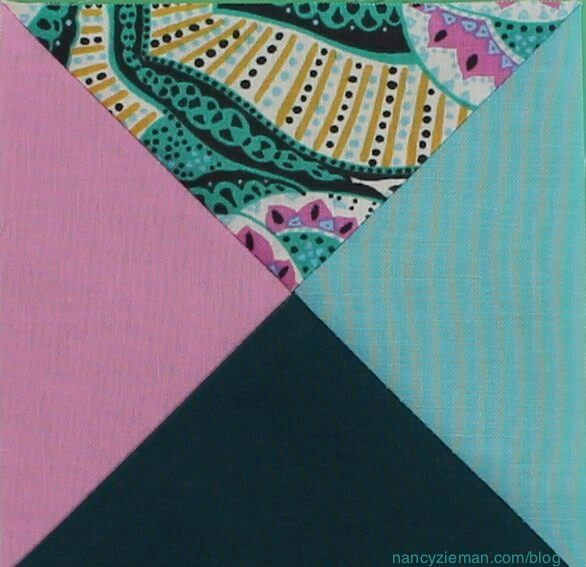 how to sew 1/4-square triangles by Nancy Zieman