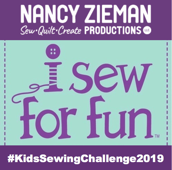 Nancy Zieman Productions I Sew For Fun Kids' Sewing Challenge Badge 2019