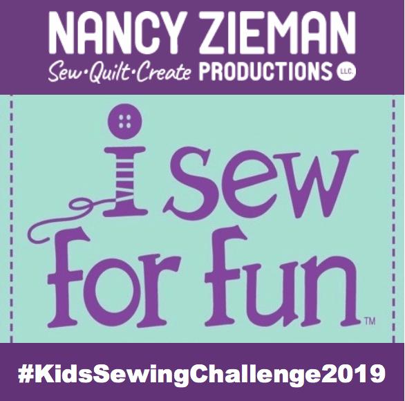 Nancy Zieman Productions I Sew For Fun Kids' Sewing Challenge Badge 2019