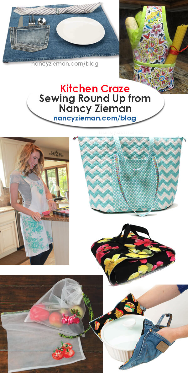 Kitchen Craze Sewing Round Up  by Nancy Zieman | Sewing With Nancy | Sewing Project Tutorials