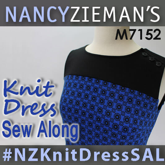 Nancy Zieman's Knit Dress Sew Along 2015 | McCalls M7152 | #NZKnitDressSAL