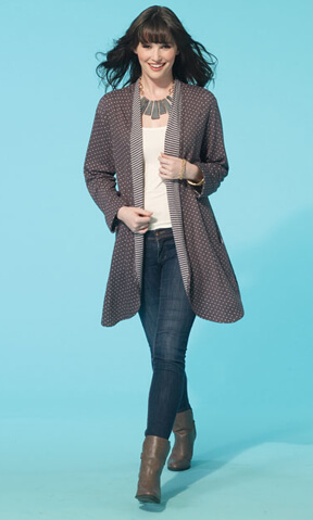 McCall's Pattern Company Cozy Jacket M2790 designed by Nancy Zieman | How to Sew Knits