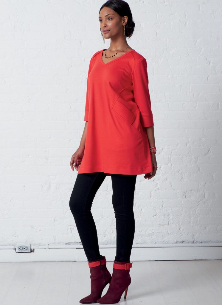 McCall's M7871 Knit Tunic and Dress Pattern by Nancy Zieman Productions Available at ShopNZP.com