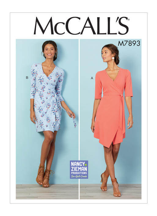 McCalls M7893 Wrap Dress Pattern by Nancy Zieman Productions