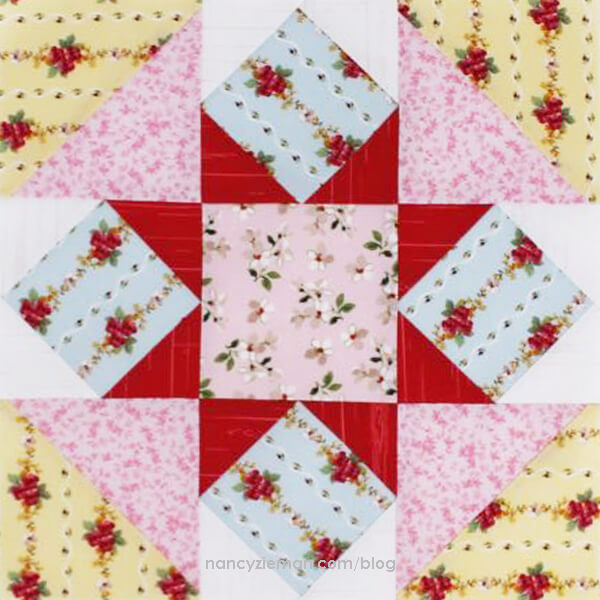 March Block of the Month- Hidden Star - No-Hassle Triangles by Sewing With Nancy Zieman