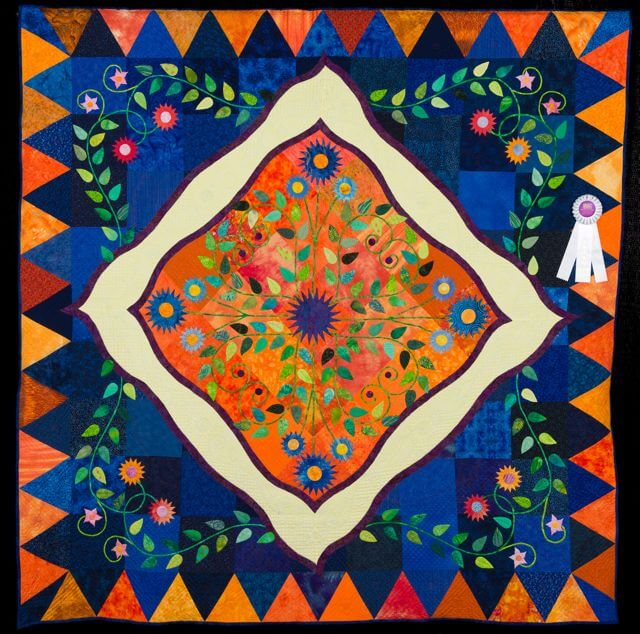 Murdererskill Crossing Quilt by Janet Atkins, Athens NY at Quilt Expo