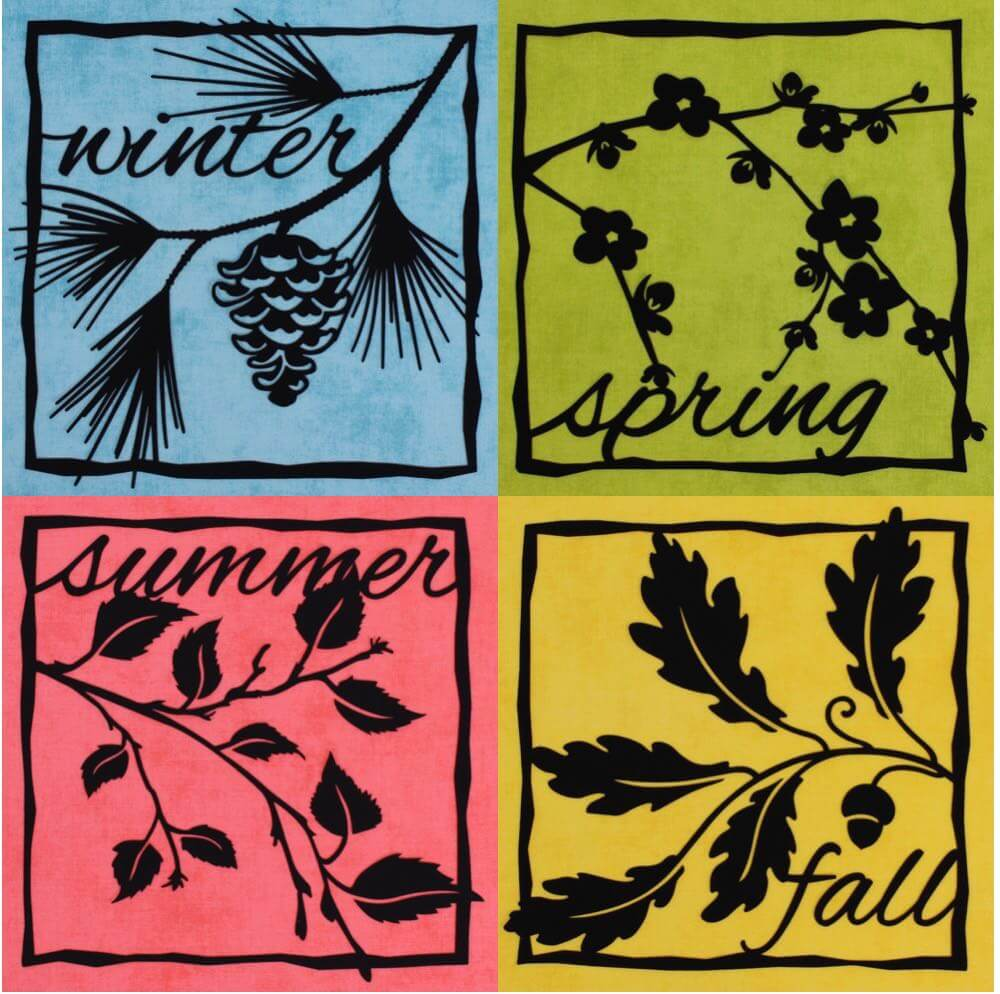 New Four Seasons Fusible Wall Art