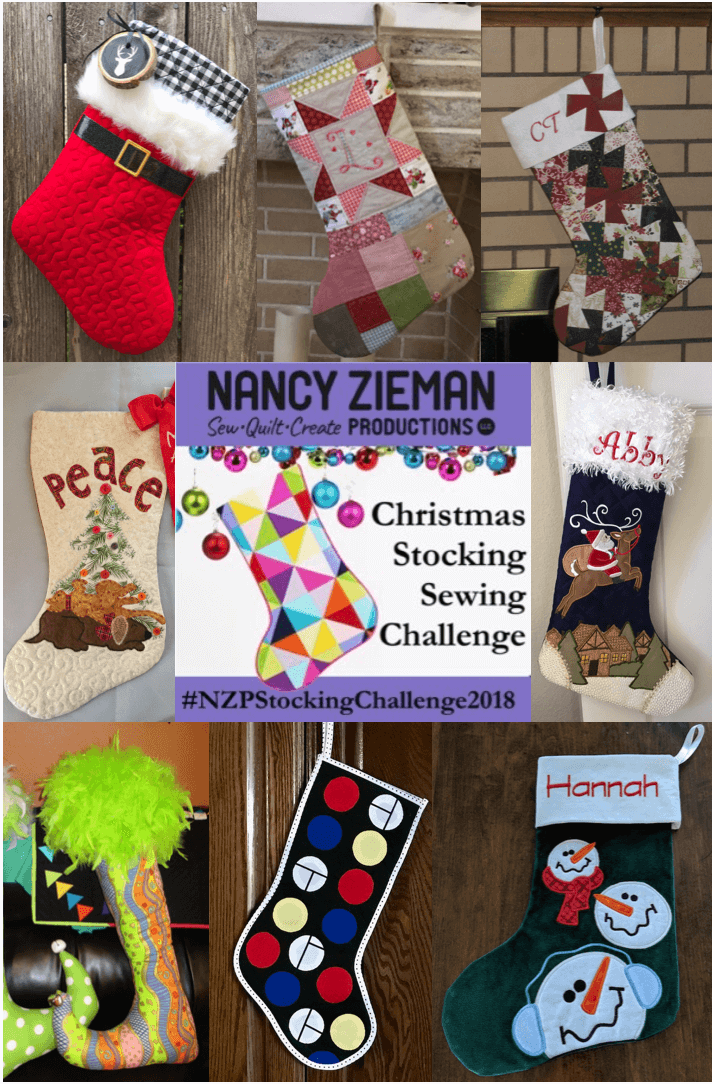 NZP Christmas Stocking Sewing Challenge 2018 Winner Mashup