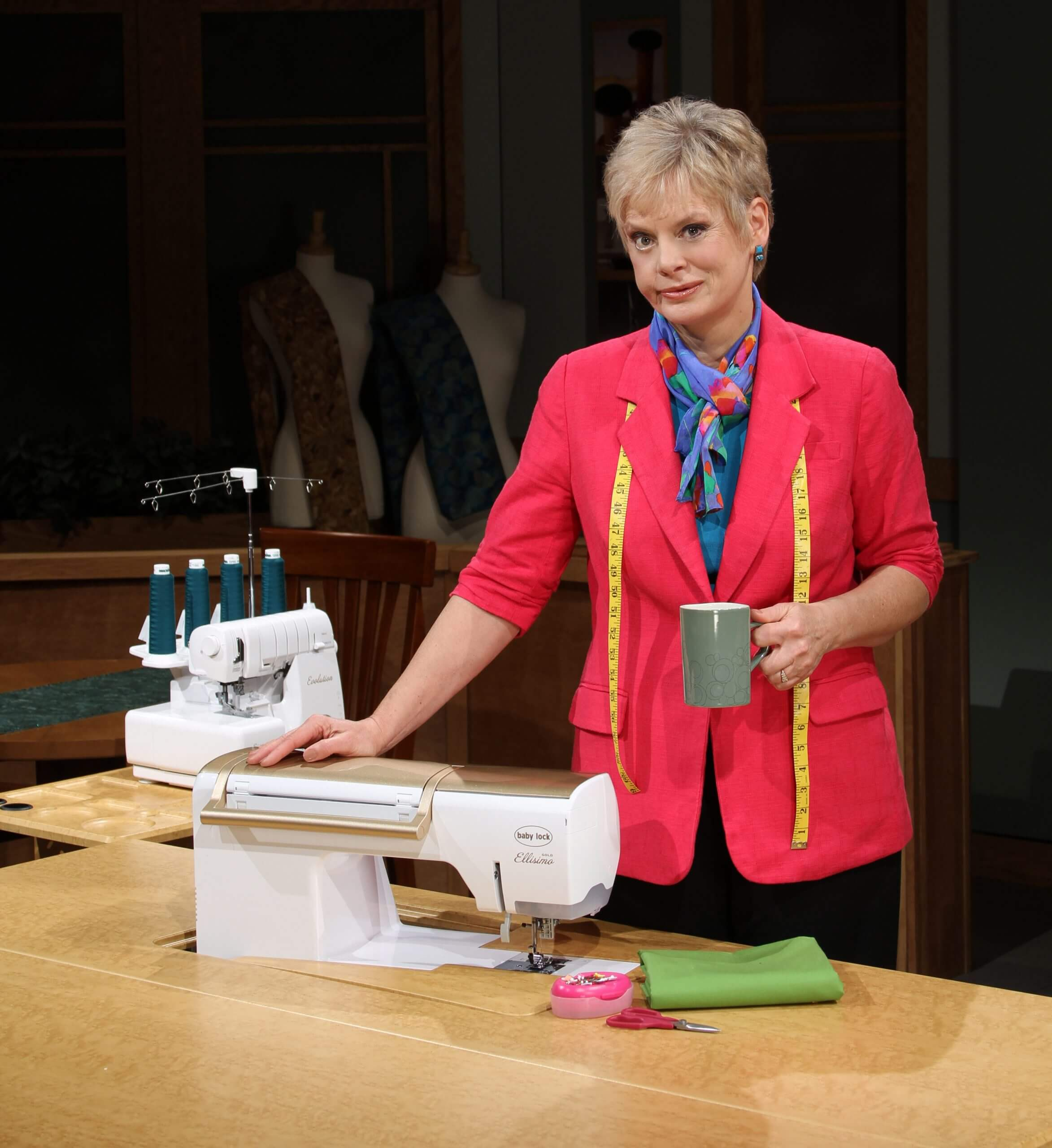 Nancy Zieman on the Set of the Sewing With Nancy Television Show at PBS Wisconsin scaled