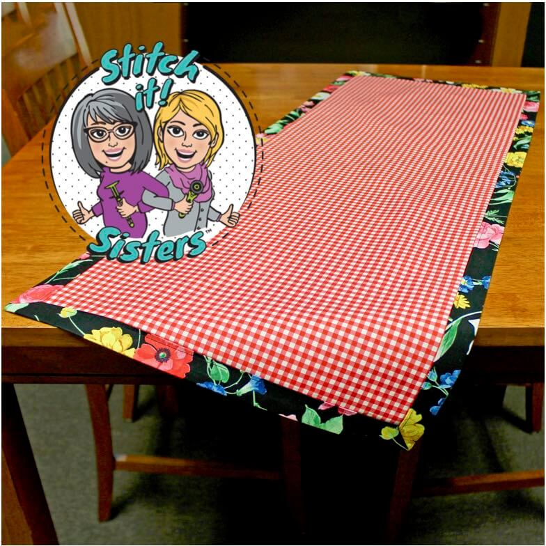 Learn how to make an easy table runner from two fabric rectangles