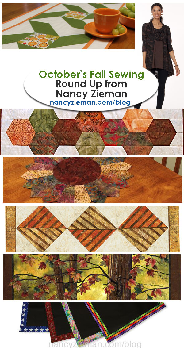October Fall Sewing and Quilting Project Round-Up by Nancy Zieman | Sewing With Nancy