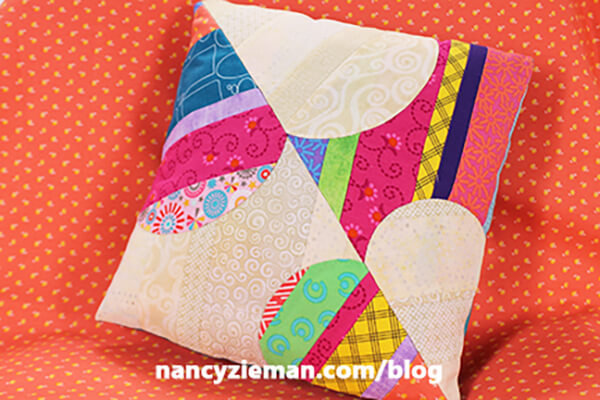 Sew a Pillow from a Leftover Orphan Quilt Block Tutorial by Nancy Zieman