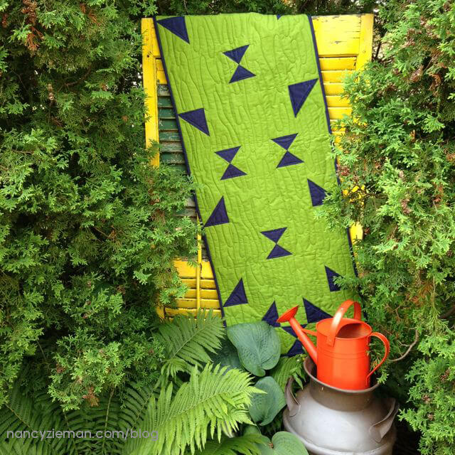 No-Hassle Triangles Summer Table Runner Sewing Tutorial at the Nancy Zieman Productions Blog