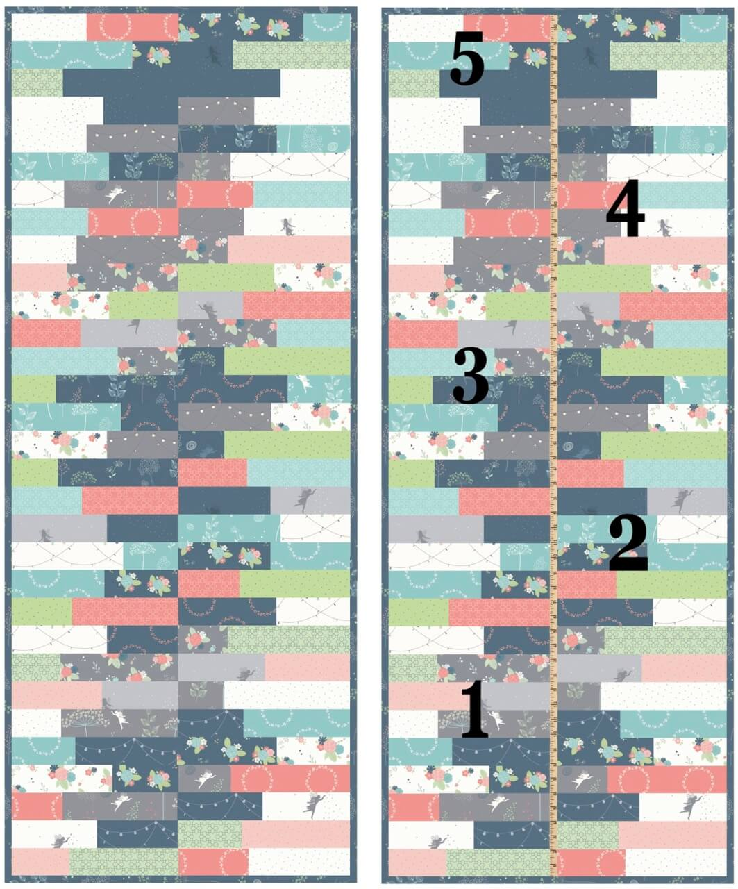 S!S117 NEW Growth Chart Wall Hanging Tutorial Video by The Stitch it! Sisters at the Nancy Zieman Productions Blog