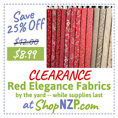 Save 25% Off Red Elegance Fabric By the Yard at ShopNZP.com