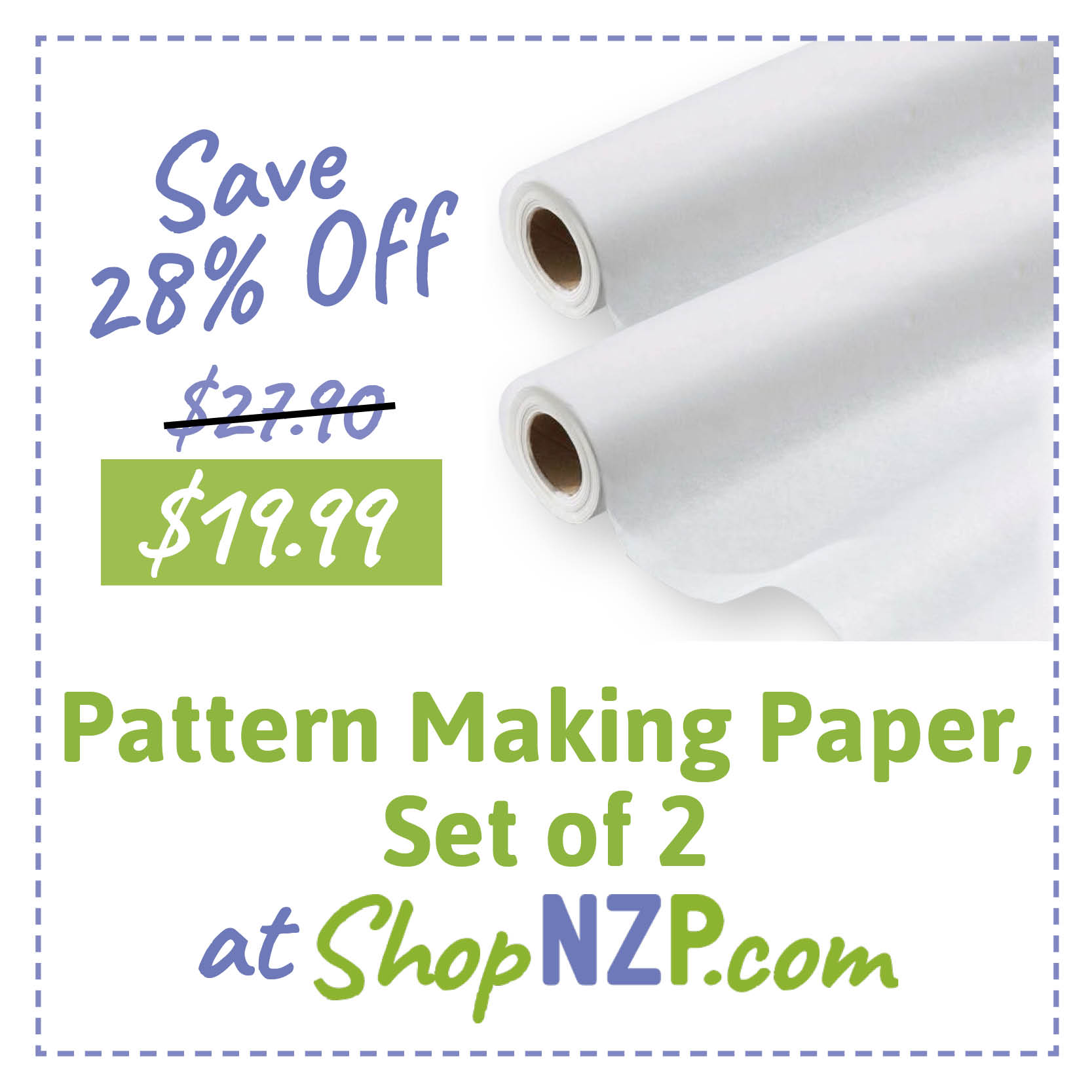 Save 28 Percent Off Pattern Making Paper Set of 2 at ShopNZP1