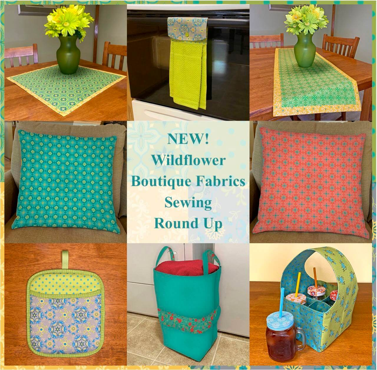 NEW! Wildflower Boutique Fabrics Sewing Round Up