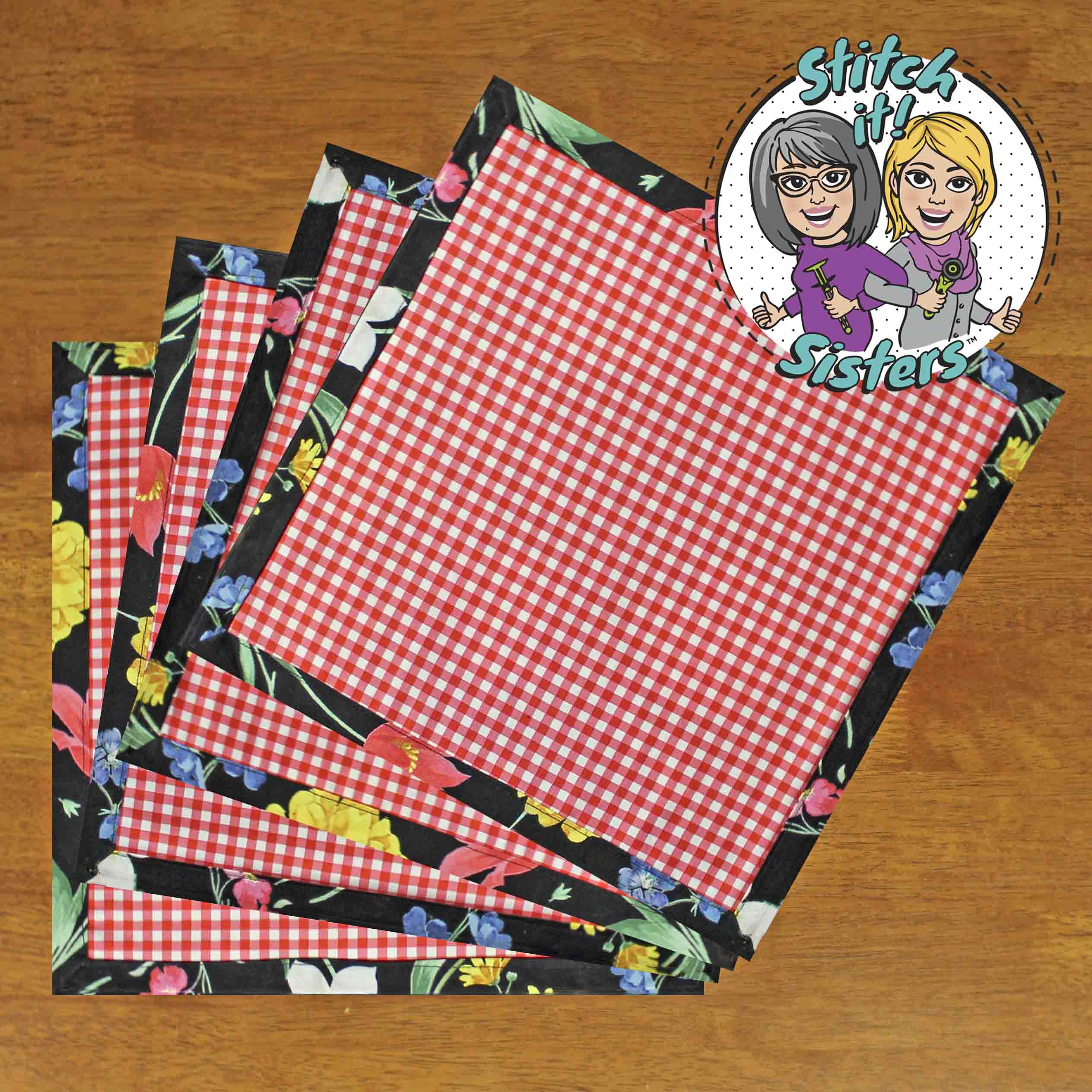 Make No-Hassle Napkins as Seen on Stitch it! Sisters by Nancy Zieman Productions