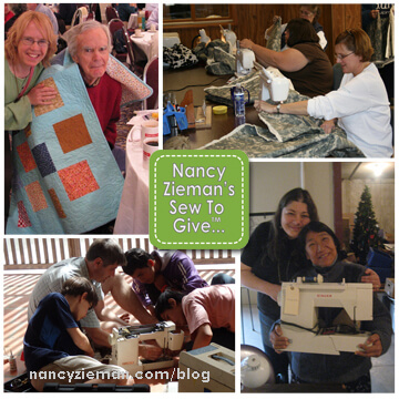 Nancy Zieman's Sew To Give Community Service Charity Sewing Project Ideas at The Nancy Zieman Productions Blog