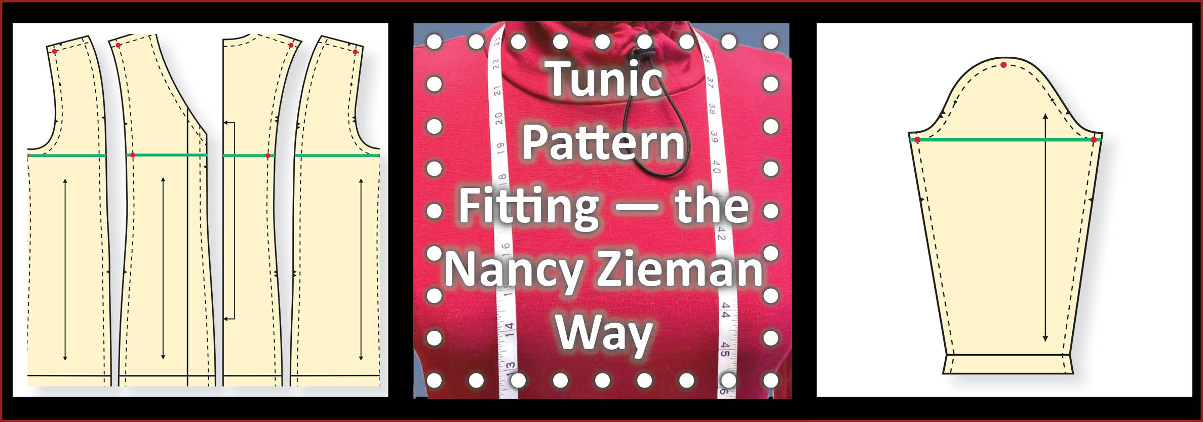 Stitch it Sisters Tunic Pattern Fitting Tutorial the Nancy Zieman Way S!S 113 by NZ Productions Featured Image