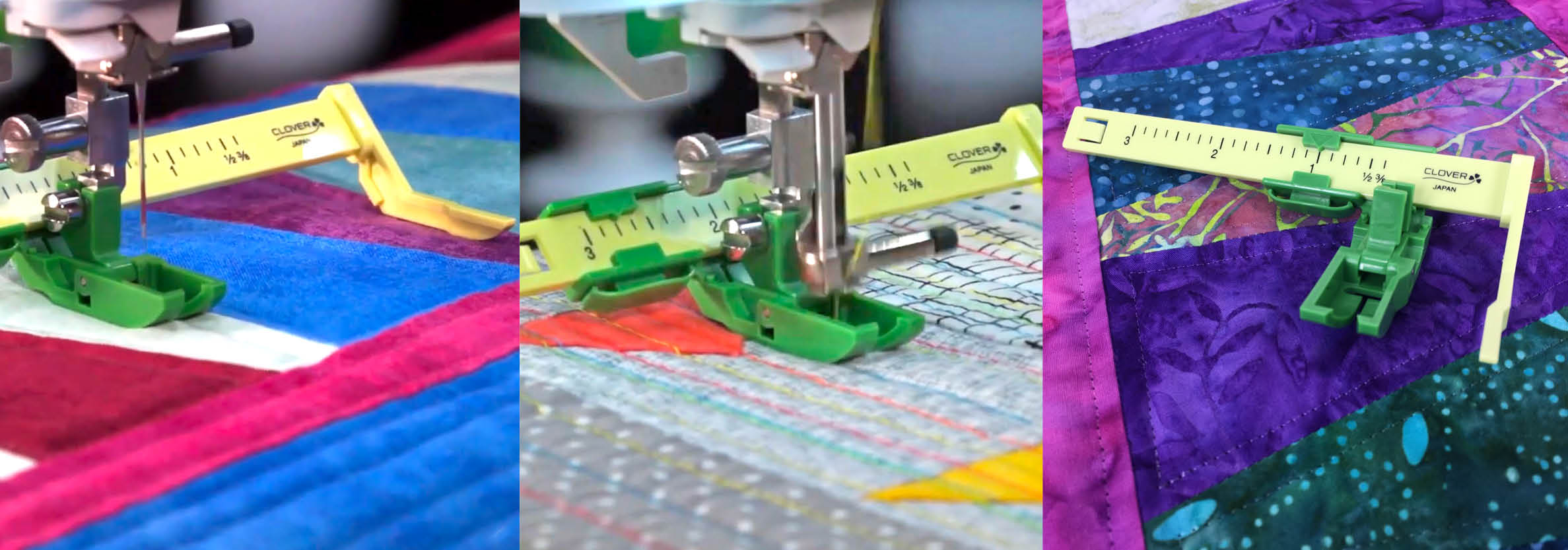 Straight Line Machine Quilting with The Ultimate Quit 'n Stitch Presser Foot as seen on Stitch it! Sisters Program 116