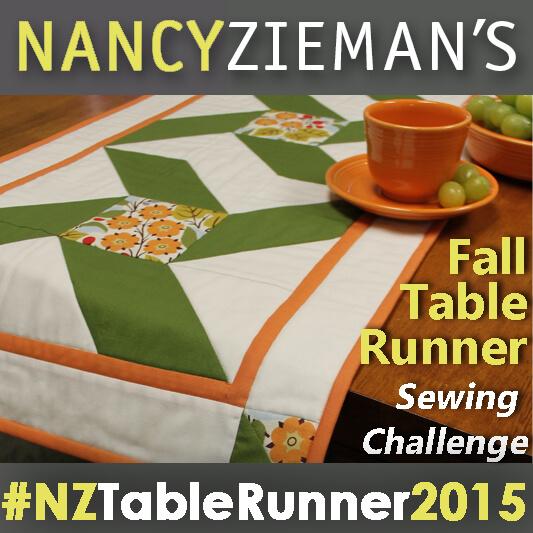 Nancy Zieman's Fall Table Runner Challenge 2015 Badge