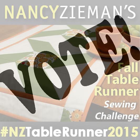 Nancy Zieman Fall Table Runner Challenge Voting Opens