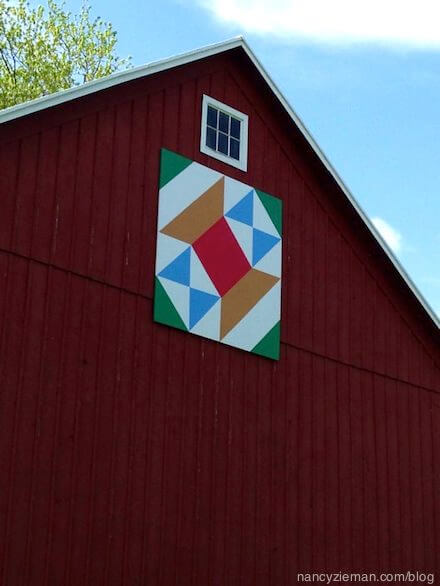 barn quilt Nancy Zieman's Blog