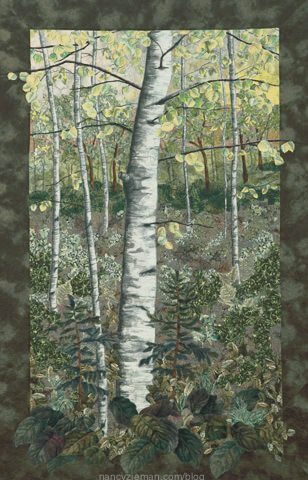 Landscape quilting by Natalie Sewell and Nancy Zieman, First Day of Summer by Nancy Zieman