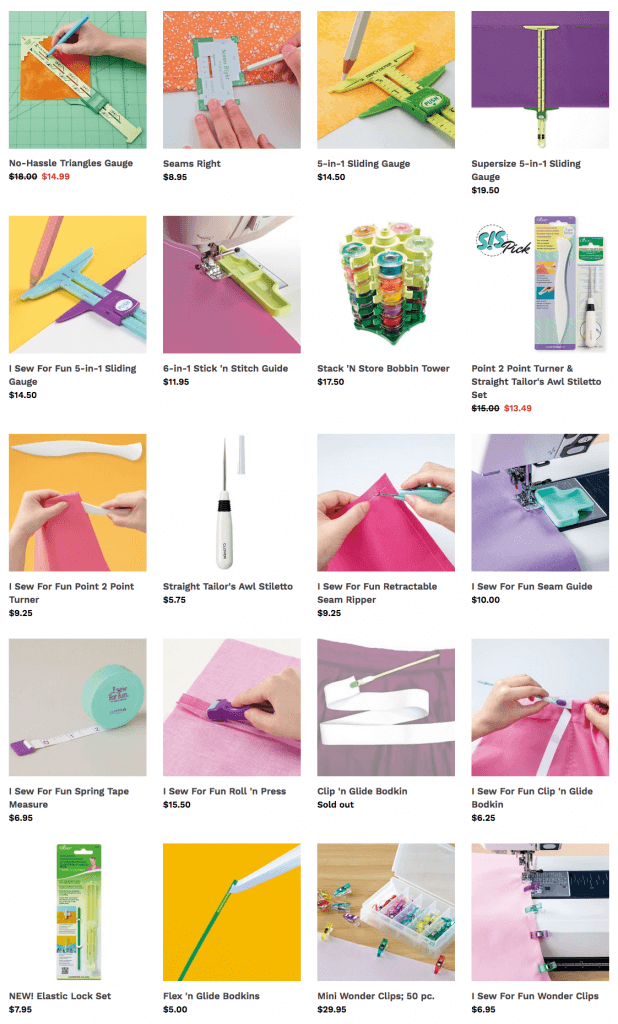 Buy Clover Sewing Tools and Clover Quilting Notions at Nancy Zieman Productions at ShopNZP.com